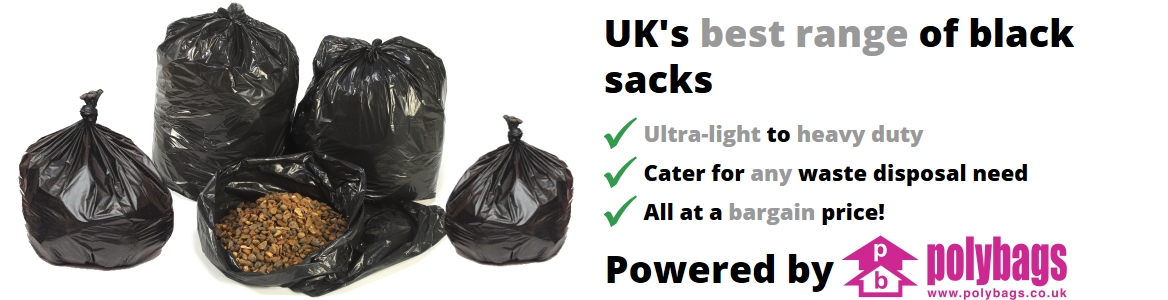 Polybags black sacks